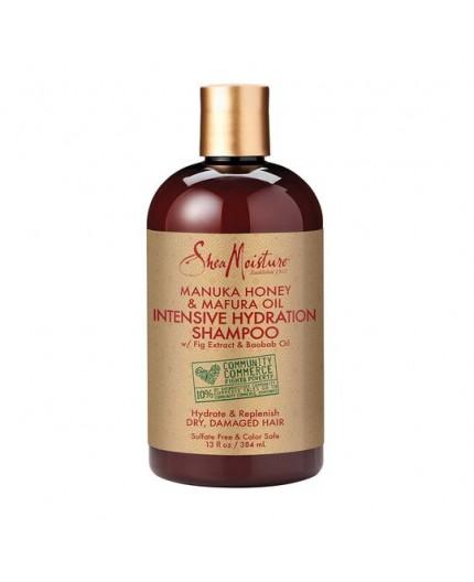 SHEA MOISTURE - MANUKA HONEY & MAFURA OIL - Shampoing Hydratation Intense (Intensive Hydratation Shampoo) - 384ml