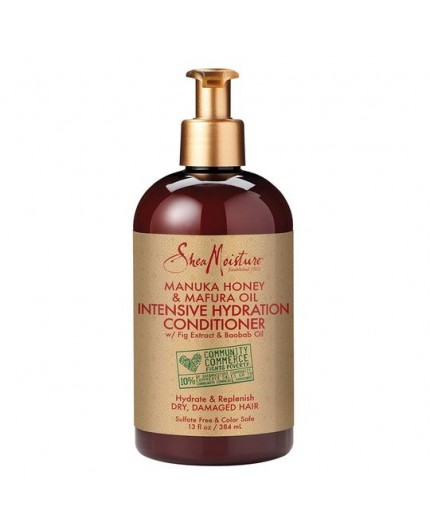 SHEA MOISTURE - MANUKA HONEY & MAFURA OIL - Après-Shampoing Hydratation Intense (Intensive Hydratation Conditioner) - 384ml
