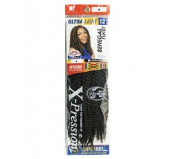 "SENSATIONNEL- Mèche Senegal Twist 12"" (African Collection) SENSATIONNEL  CROCHETS BRAIDS"