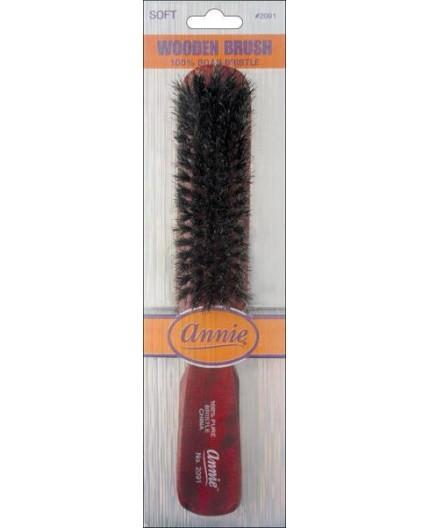 ANNIE- Brosse 100% Poils De Sanglier (Wooden Brush)
