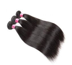 EB VIRGIN HAIR- Lot de 3 Tissage Lisse 100% Vierge  LOT 3 BOULES TISSAGE