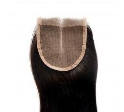 EB VIRGIN HAIR- Closure 4*4 Lisse 100% Vierge  CLOSURE EB VIRGIN HAIR