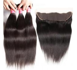 EB VIRGIN HAIR- Lot 3 Tissage + Lace Frontal Lisse  LOT 3 BOULES DE TISSAGE + 1 LACE FRONTAL