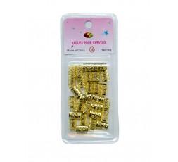 Perle Bague En Or Pour Tresse (B2G) E Accessoires ebcosmetique