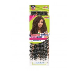 "JANET COLLECTION- Mèche Crochet Braids Brazilian Braid 12"" JANET COLLECTION  CROCHET BRAID BOUCLÉ"