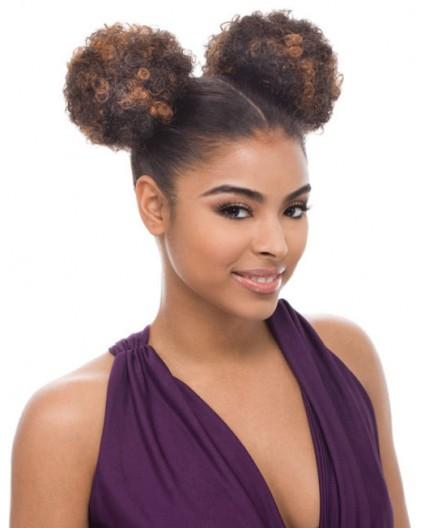 JANET COLLECTION - Postiche Chignon Afro Puff 2 Pièces