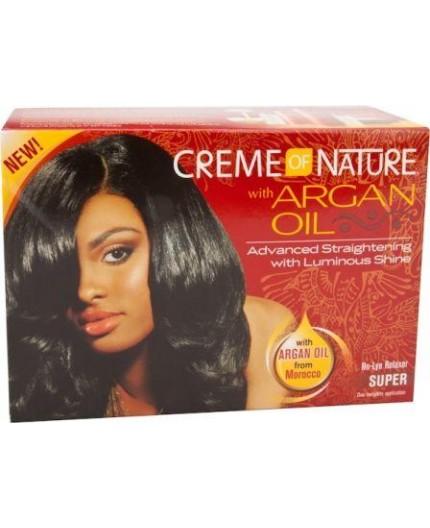 Creme Of Nature Argan Oil- Défrisage Sans Soudes Kit A L'huile D'Argan