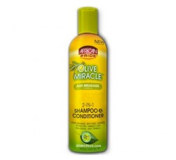 AFRICAN PRIDE - Shampoing Après-Shampoing Miracle 2en1 A L'Huile D'Olive AFRICAN PRIDE  SHAMPOING
