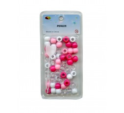 E ACCESSOIRES - Perles Roses & Blanches En Plastiques E Accessoires ACCESSOIRES DE COIFFURE