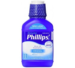 GENUINE PHILLIPS - Lait de Magnésie Original (Milk Of Magnesia) GENUINE PHILLIPS FIXATEURS