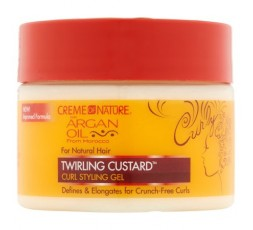 CREME OF NATURE ARGAN OIL - Gel Coiffante Pour Boucles (Twirling Custard) CREME OF NATURE  ebcosmetique