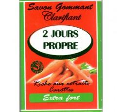 2 JOURS PROPRE - Savon Gommant Clarifiant & Éclaircissant Carotte Extra Fort 2 JOURS PROPRE SAVON