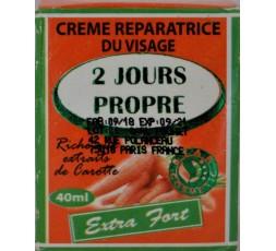 2 JOURS PROPRE - Crème Visage Carotte Clarifiant & Éclaircissant Extra Forte 2 JOURS PROPRE CRÈME ÉCLAIRCISSANTE VISAGE