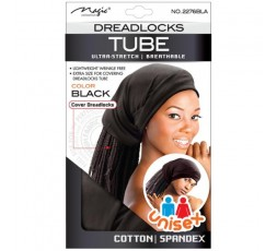 MAGIC COLLECTION - Bonnet Tube pour Dreadlocks Mixte Extensible Noir 2276BLA MAGIC COLLECTION  ACCESSOIRES DE COIFFURE