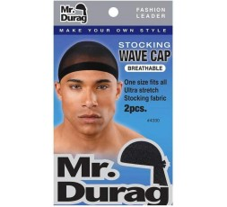 MR DURAG - Durag Waves Bonnet Stretch Noir x2 4330 MR DURAG ACCESSOIRES DE COIFFURE