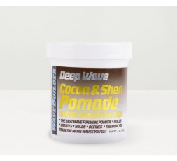 WAVE BUILDER - Pommade Coiffante Longue Tenue au Coco & Karité (Deep Wave Cocoa & Shea Pomade Super Smooth & Rich) WAVE BUILD...