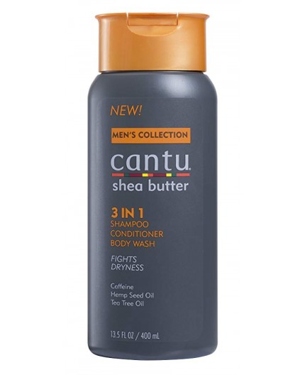 CANTU MEN'S COLLECTION Shampoing Hydratant 3 EN 1 400ml