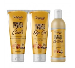 AFRICA'S BEST - HONEY & CASTOR - Pack Hydratation & Définition Boucles AFRICA'S BEST  ACTIVATEUR & DEFINISEUR DE BOUCLES