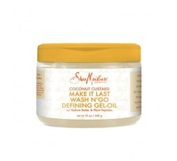 SHEA MOISTURE - COCONUT CUSTARD - Gel-Huile Définition Boucles Make It Last Wash N' Go SHEA MOISTURE ebcosmetique