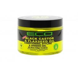 ECO STYLER - Gel de Fixation Huile de Ricin & Graine de Lin Longue Tenue 48H (Black Castor & Flexeed Oil Conditioning Styling...