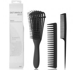 MAGIC - Kit Brosse Démêlante Pour Cheveux Afro Noir (Detangler Afro Brush)  ACCESSOIRES DE COIFFURE