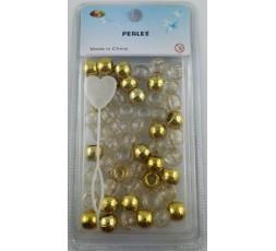 E ACCESSOIRES - Perles Or & Transparent En Plastiques Natte & Tresse E Accessoires ACCESSOIRES DE COIFFURE