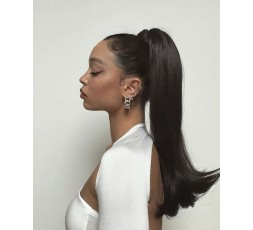 EB VIRGIN HAIR - Postiche Queue de Cheval Lisse Naturel (Wrap Ponytail)  POSTICHES