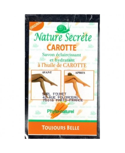 Nature Secrète Carotte- Savon Éclaircissant