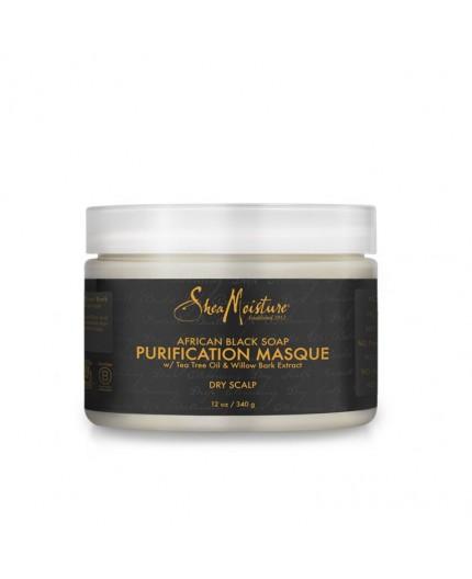 SHEA MOISTURE - AFRICAN BLACK SOAP - Masque Capillaire Purifiant (Purification Masque) - 340g