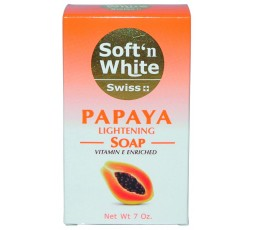 Soft 'N' White- Lightening savon Papaya SOFT N WHITE  CRÈME ÉCLAIRCISSANTE CORPS