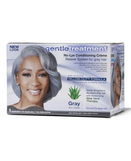 GENTLE TREATMENT- Defrisage Pour Cheveux Gris Gray (Cheveux Gris)